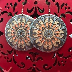 Mandala Pastel Plate Earrings
